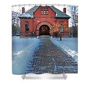 Tenney Memorial Library Newbury Vermont Shower Curtain