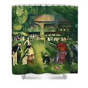 Tennis At Newport 1920 Shower Curtain