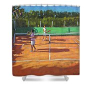 Tennis Practice Shower Curtain