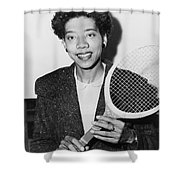 Tennis Star Althea Gibson Shower Curtain