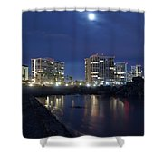 Tent City At Night Shower Curtain