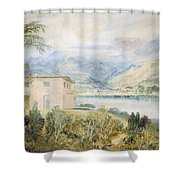 Tent Lodge By Coniston Water 1818 Shower Curtain  sc 1 st  Fine Art America & Tent Lodge By Coniston Water 1818 Drawing by Joseph Mallord ...