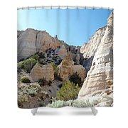 Tent Rocks 8 Shower Curtain