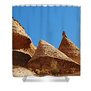Tent Rocks Geology Shower Curtain