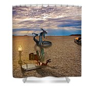 Tentacle Story Shower Curtain