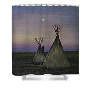 Teepees Shower Curtain