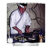 Teppanyaki Cooking  Shower Curtain