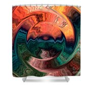 Tequila Sunrise Shower Curtain by Anthony Morris