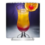 Tequila Sunrise Cocktail Shower Curtain