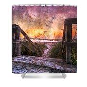 Tequilla Sunrise Shower Curtain