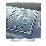 Terbium Chemical Element Shower Curtain