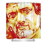 Terence Mckenna Watercolor Portrait.2 Shower Curtain