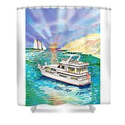 Terifico At Anchor Shower Curtain