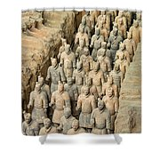 Terra Cotta Warriors Shower Curtain