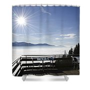 Terrace With Panoramic View Shower Curtain