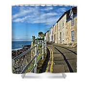 Terraced Cottages At Mousehole Shower Curtain