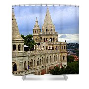 Terraces And Towers Of Fishermans Bastion Shower Curtain