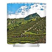 Terraces Of Machu Picchu-peru Shower Curtain