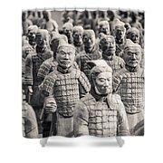 Terracotta Army Shower Curtain by Adam Romanowicz