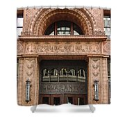 Terracotta Building Shower Curtain