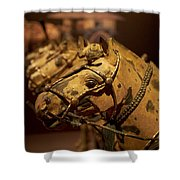 Terracotta Horses Shower Curtain