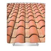 Terracotta Tiles Shower Curtain