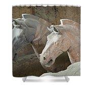 Terracotta Warrior Horses, China Shower Curtain