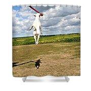 Terrier Ball Ballet Shower Curtain