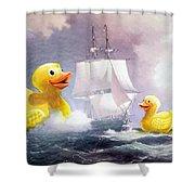 Terror On The High Seas II Shower Curtain