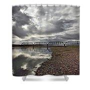 Terry Bridge Shower Curtain