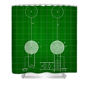 Tesla Electric Transmission Patent 1900 - Green Shower Curtain