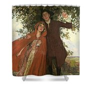 Tess Of The D'urbervilles Or The Elopement Shower Curtain
