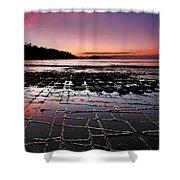 Tesselated Pavement Sunrise Shower Curtain