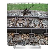Switch Tracks Shower Curtain