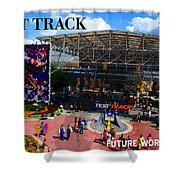 Test Track Opening 1999 Shower Curtain