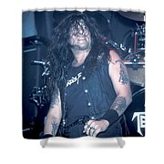Testament - Chuck Billy Shower Curtain