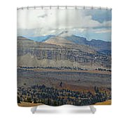 Teton Canyon Shelf Shower Curtain
