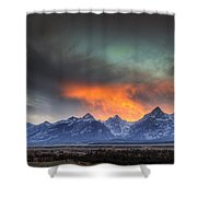 Teton Explosion Shower Curtain by Mark Kiver