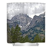 Teton Peaks Near Jenny Lake In Grand Teton National Park-wyoming- Shower Curtain