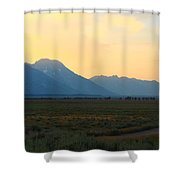 Tetons And Fields Shower Curtain
