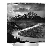 Tetons And The Snake River Shower Curtain