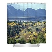 1m9209-tetons From Signal Mountain, Wy Shower Curtain