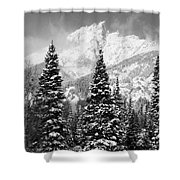 Tetons In Snow Shower Curtain