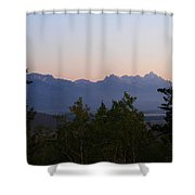 Tetons In The Morning Shower Curtain