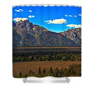 Tetons Mountians Shower Curtain