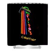 Tex Mex Cantina Neon Shower Curtain