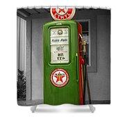 Texaco Gas Pump Shower Curtain