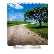 Texaco Hill Shower Curtain