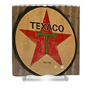 Texaco Star Shower Curtain