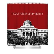 Texas A And M University - Dark Red Shower Curtain